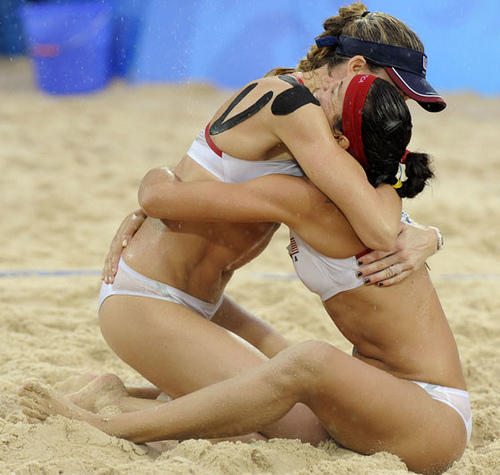 Kerri Walsh Hugs Misty May