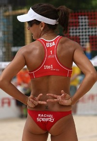 Rachel Wacholder Signals Beach Volleyball girls