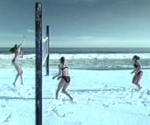 BEach Volleyball In The Snow