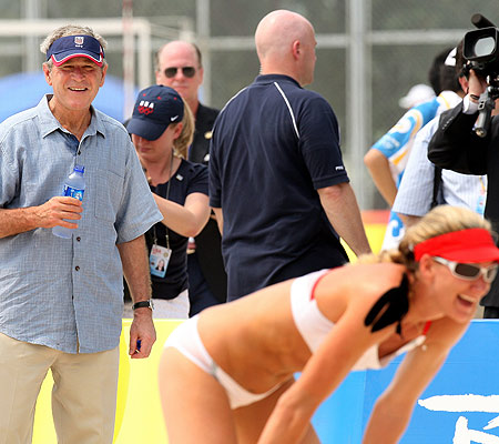 Kerri Walsh Misty May George Bush